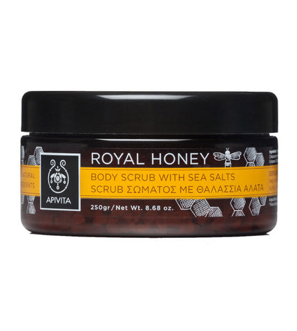 Apivita Royal Honey piling za tijelo s morskom soli 250 g
