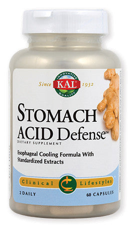 Kal Stomach Acid Defense za reguliranje želučane kiseline 60 kapsula