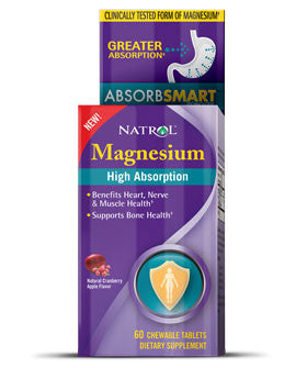 Natrol Magnesium High Absorption 60 tableta za žvakanje