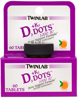 Twinlab vitamin D3 1000 + K2 60 tableta