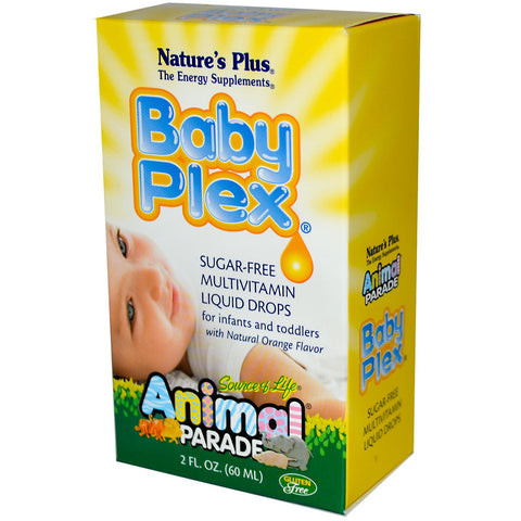 Nature's Plus Animal Parade Baby Plex multivitaminske kapi za dojenčad i djecu do školske dobi