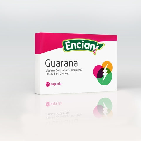 Encian Guarana kapsule 20x1200 mg