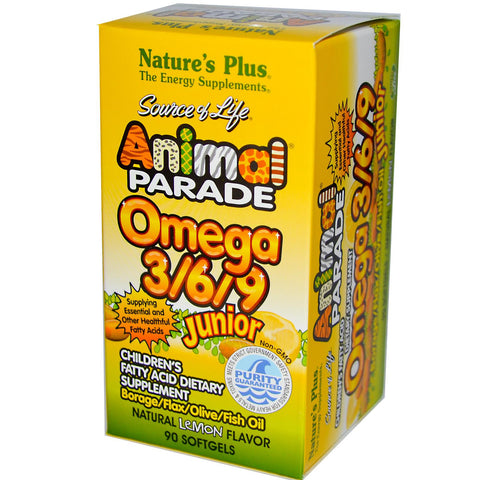 Nature's Plus Animal Parade Omega 3/6/9 za djecu za bolji razvoj