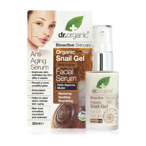 Dr. Organic Snail Gel serum za lice 30 ml