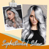 Cream for coloring silver blond hair