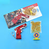 All Metal Mini Folding Rubber Band Gun Outdoor Military Sport Toy Keychain