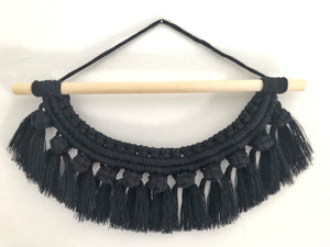 Small Black Fringe Hanging