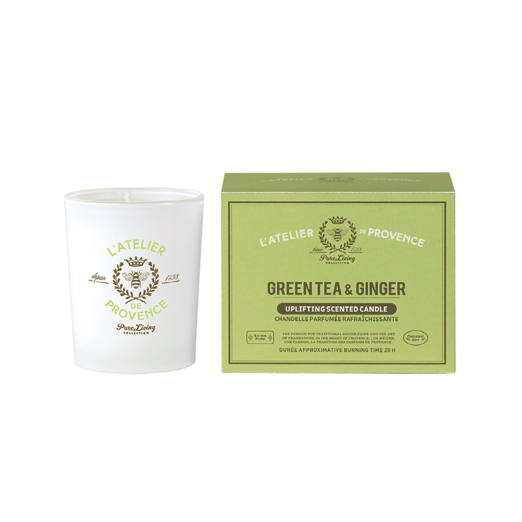Green Tea & Ginger Uplifting Scented Candle
