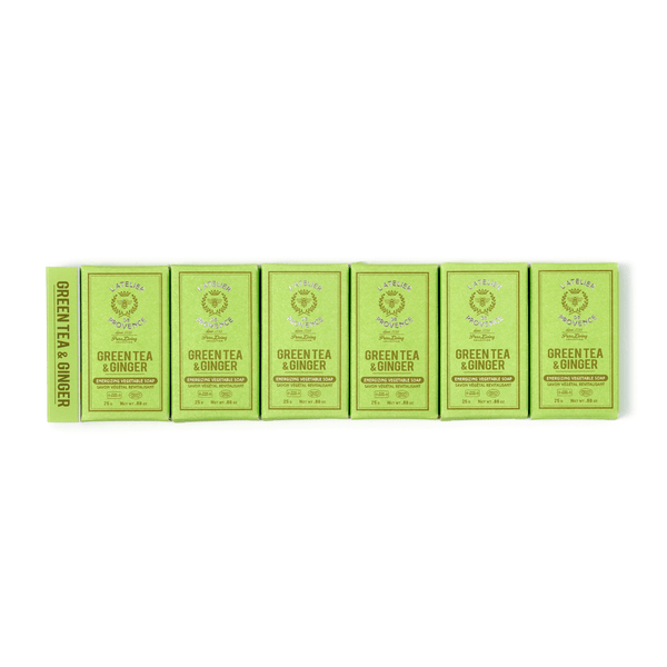 Green Tea & Ginger Box of 6 Guests Soaps