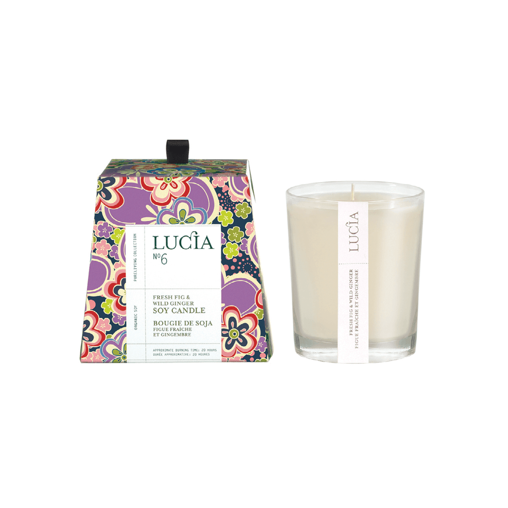 N°6 Fresh Fig & Wild Ginger Soy Candle