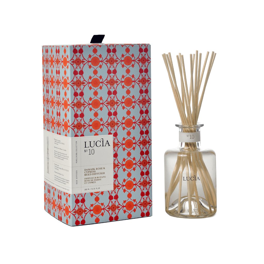 N°10 Damask Rose & Cypress Reed Diffuser