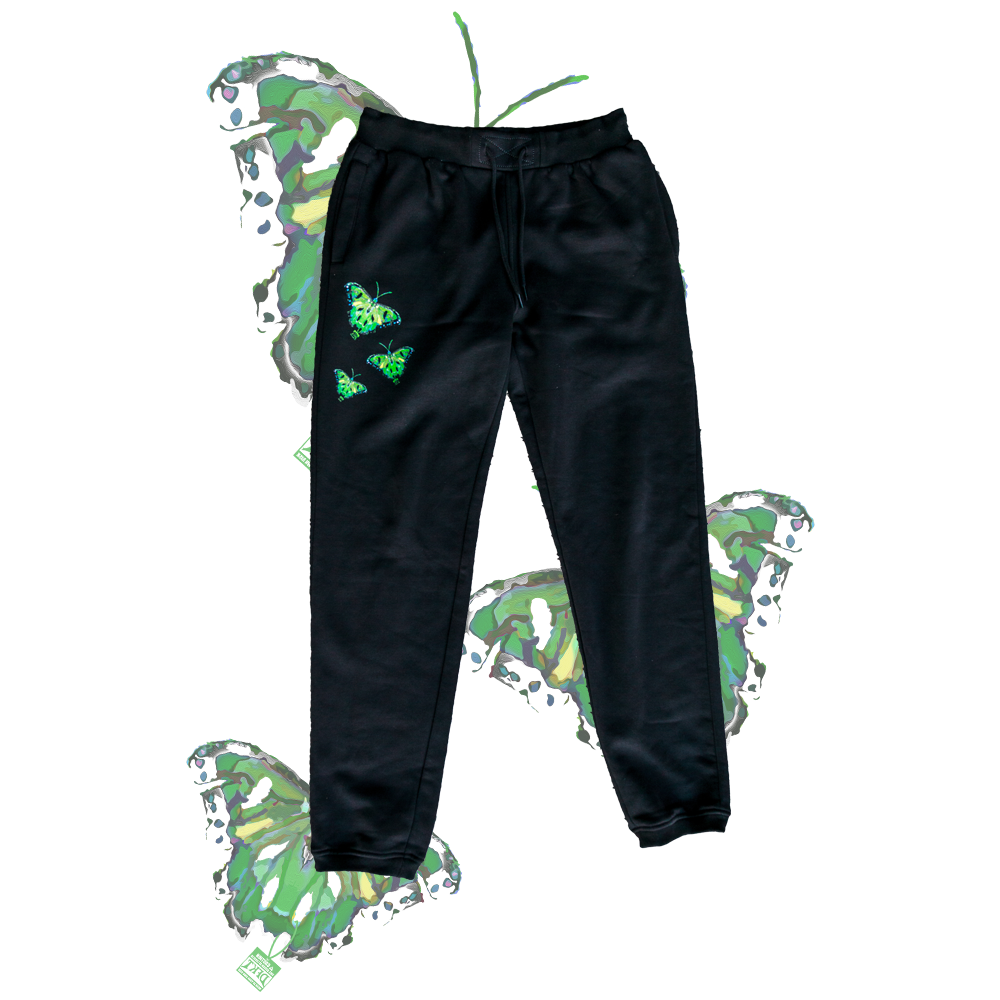 RIPPED BUTTERFLY SWEATPANTS