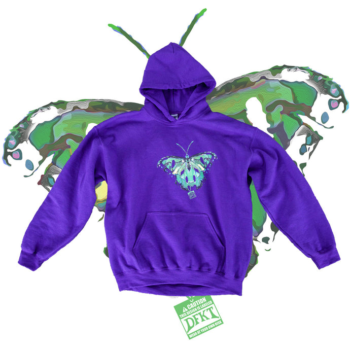 RIPPED BUTTERFLY HOODIE