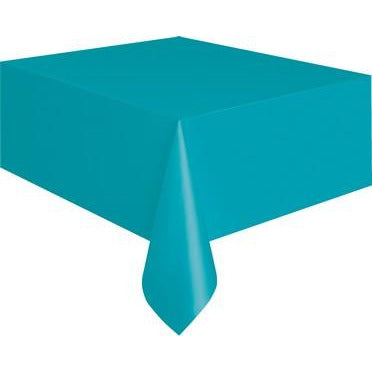 Caribbean Teal Unique Plastic Tablecover Rectangle 137 x 274cm