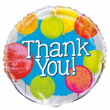 Bright thank You 45cm (18) Foil Balloon Packaged
