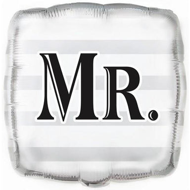 Wedding Mr Square 45cm (18) Foil Balloon Packaged