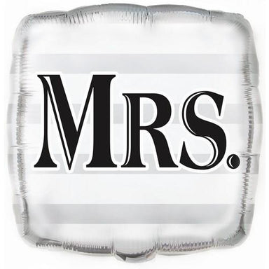 Wedding Mrs Square 45cm (18) Foil Balloon Packaged