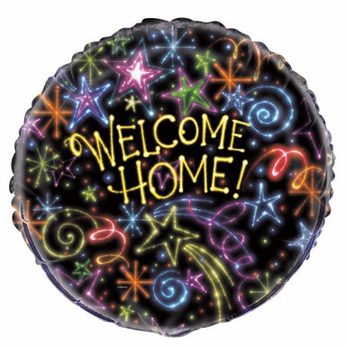 Star Welcome Home 45cm (18) Foil Balloon Packaged