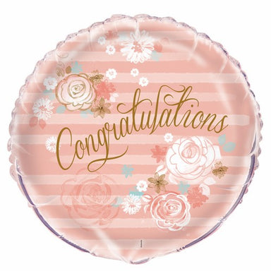 Floral Congratulations 45cm (18) Foil Balloon Packaged
