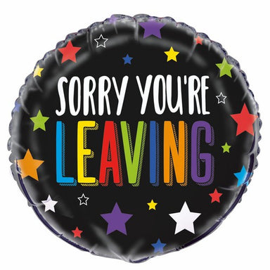 Sorry Youre Leaving 45cm (18) Foil Balloon Packaged