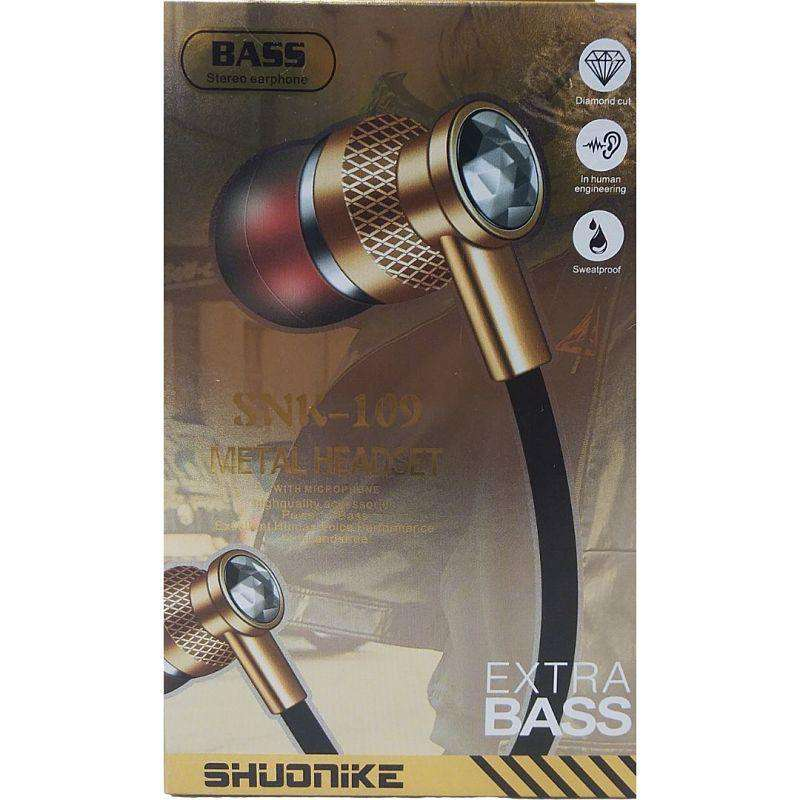 Earphones Extra Bass With Built In Microphone