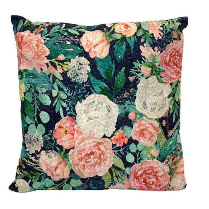 Cushions Floral Spring 45 x 45cm - Pink Roses