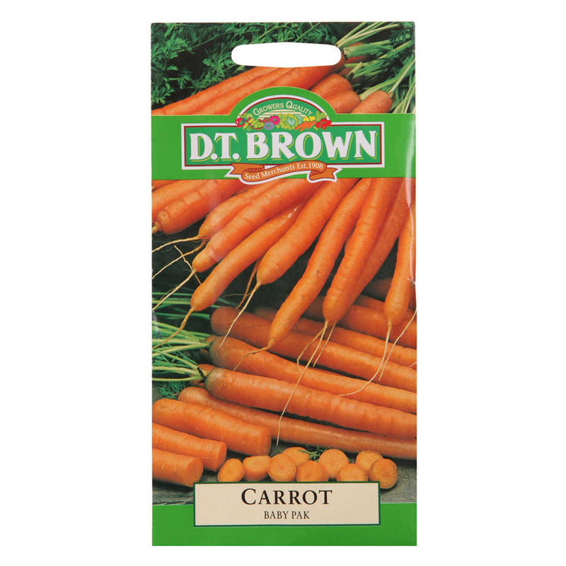 Buy DT Brown Carrot Baby Pack Seeds | Dollars and Sense