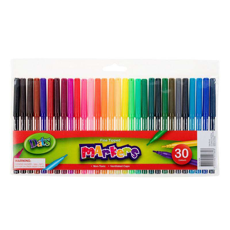 Markers - 30 Pack Fine Point Tip