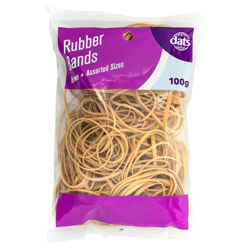 Rubber Bands - Brown 100g