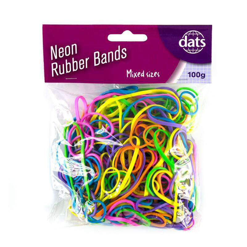 Rubber Bands - Mixed Colours 100g
