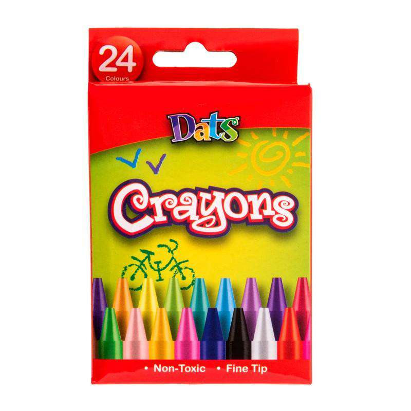Crayons - 24 Pack In Colour Box