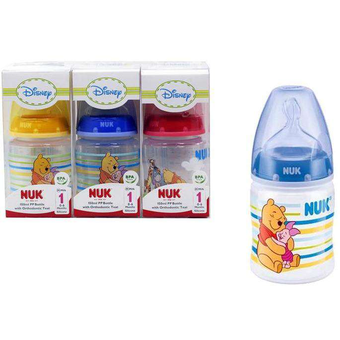 NUK First Choice Disney PP Bottle With Orthodontic Teat Blue