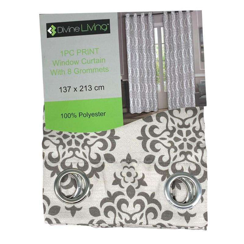 Divine Living Curtain Grey Design