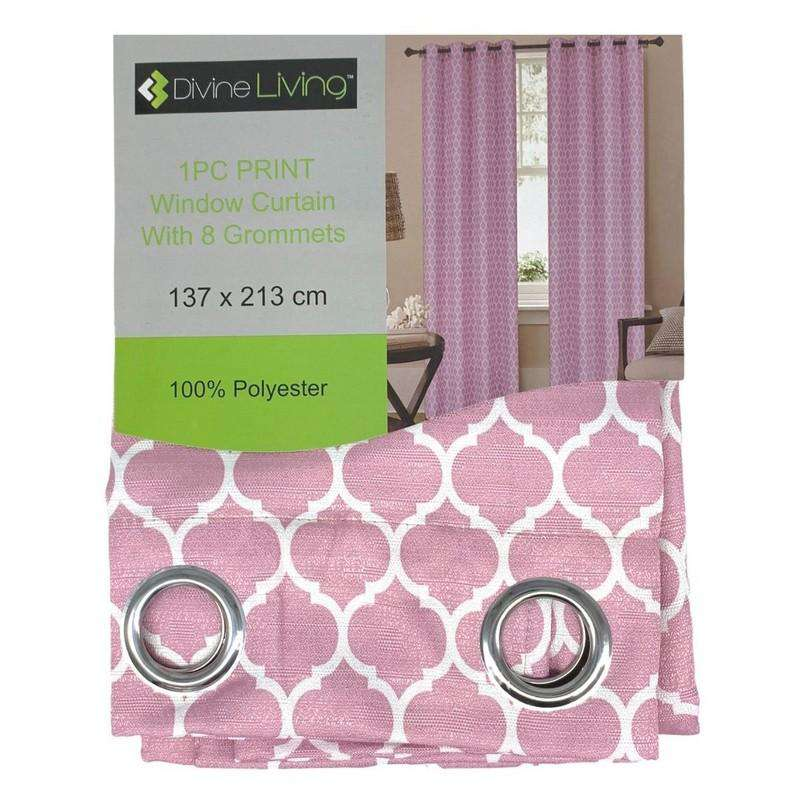 Divine Living Curtain Pink Design