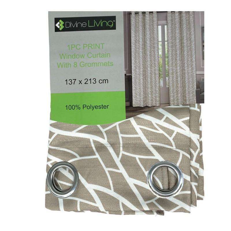 Divine Living Curtain Light Grey with White Lines