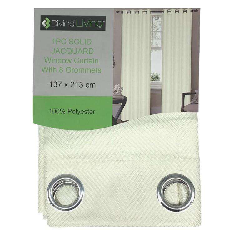Divine Living Curtain Embossed Cream