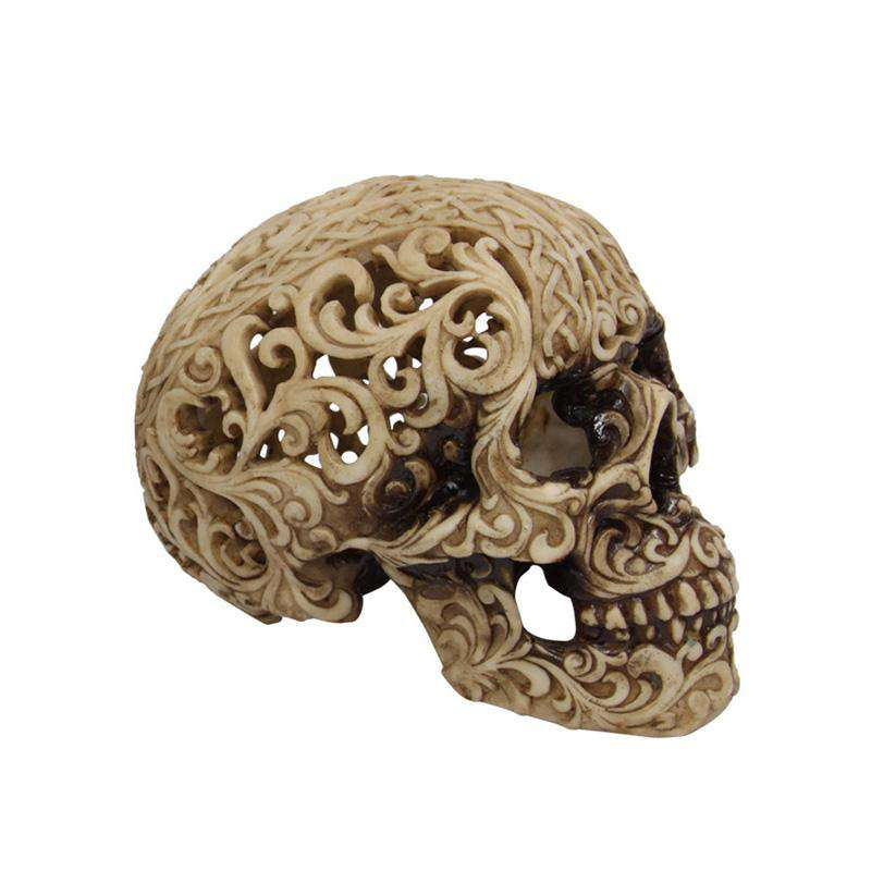 Tribal Bone Colored Skull 14cm - See Through