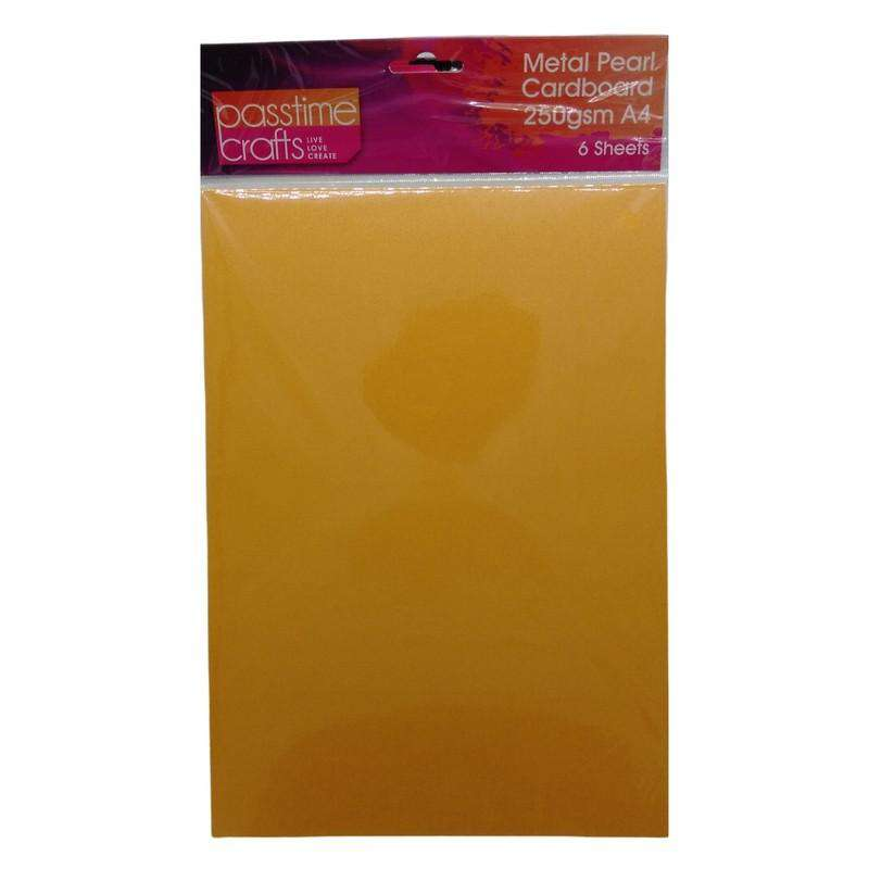 Buy Cheap art & craft online | Metal Pearl Cardboard 250gsm A4 Orange 6 Pieces|  Dollars and Sense cheap and low prices in australia