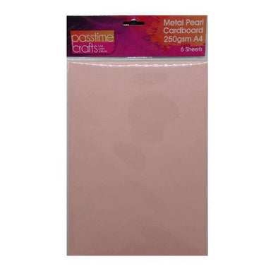 Buy Cheap art & craft online | Metal Pearl Cardboard 250gsm A4 Pink 6 Pieces|  Dollars and Sense cheap and low prices in australia