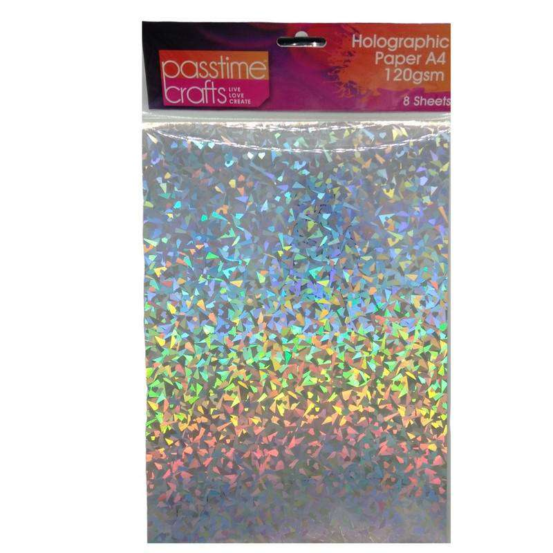 Buy Cheap art & craft online | Holographic Paper 120gsm A4 Silver Specks 8 Pack|  Dollars and Sense cheap and low prices in australia