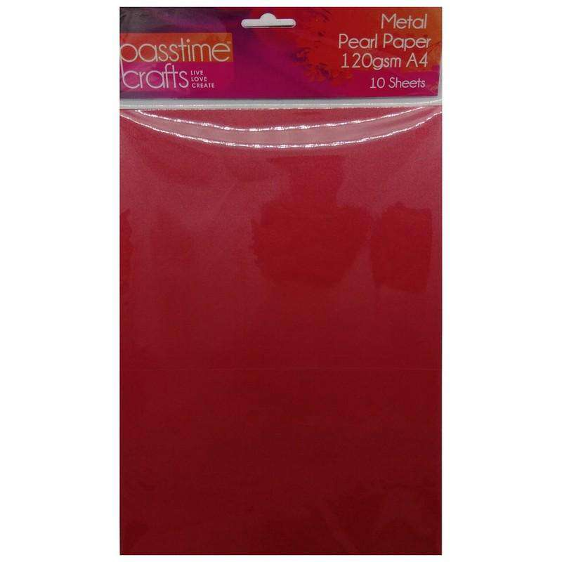 Buy Cheap art & craft online | Metal Pearl Paper 120gsm A4 Pink 10 Pieces|  Dollars and Sense cheap and low prices in australia