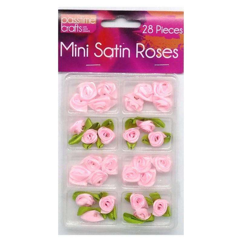 Buy Cheap art & craft online | Mini Satin Roses 28 Pieces Red|  Dollars and Sense cheap and low prices in australia