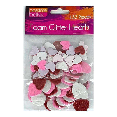 Buy Cheap art & craft online | Foam Glitter Hearts Small|  Dollars and Sense cheap and low prices in australia