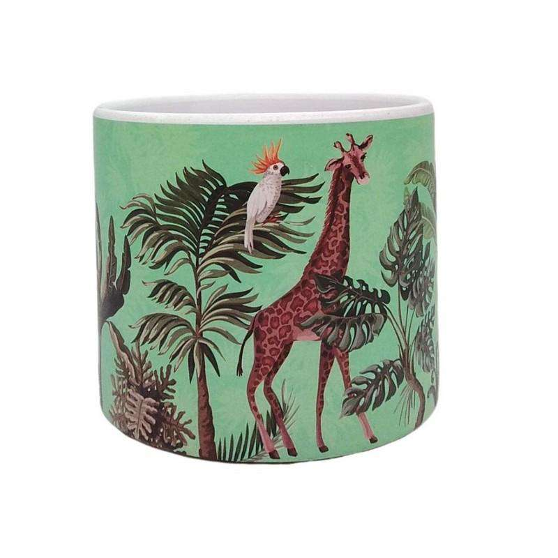 Jungle Range Giraffe Pot Small