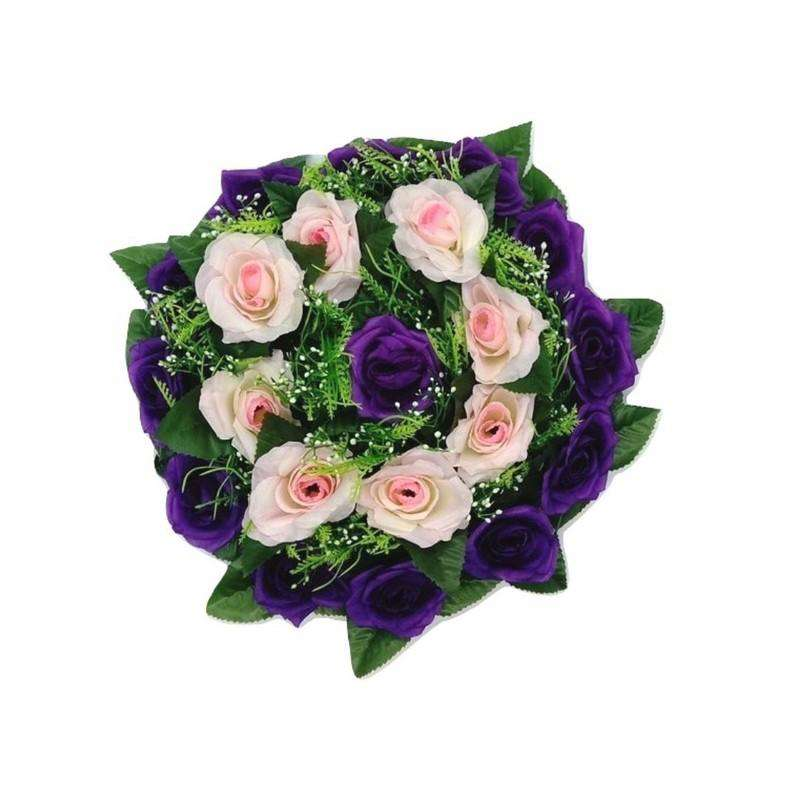 Artificial Centrepiece Flower Pink and Purple