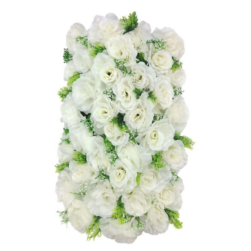 Artificial Flowers Rectangle White