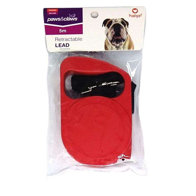 Retractable Dog Lead Red 5mtr