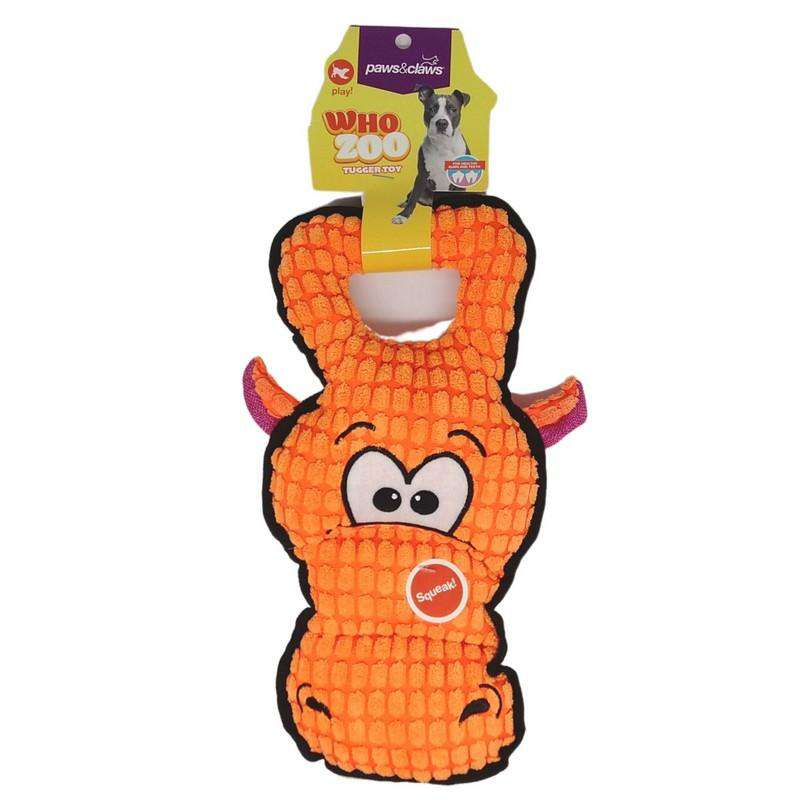 Pet Toy Who Zoo Tugger Orange 30cm