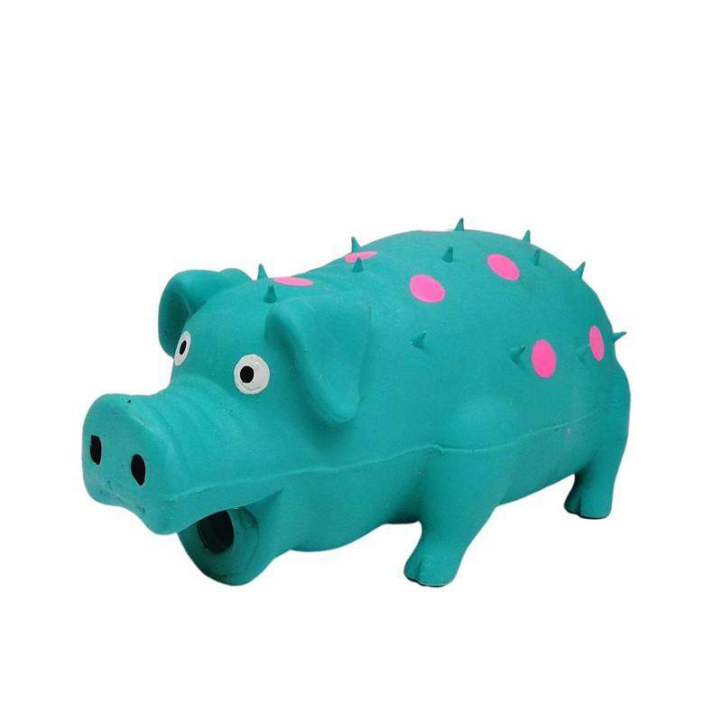 Pet Toy Latex Pig Blue