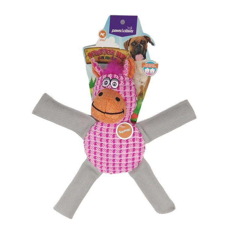 Stretch Me Hippo Pet Toy Pink 28cm